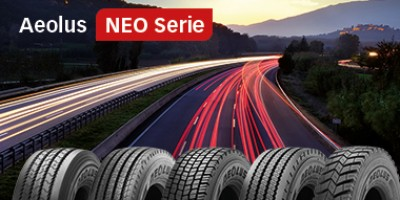 Aeolus makes statement in 2017 with sales record for truck tyres in Europe