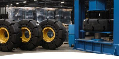 Heuver now also able to press solid OTR tyres
