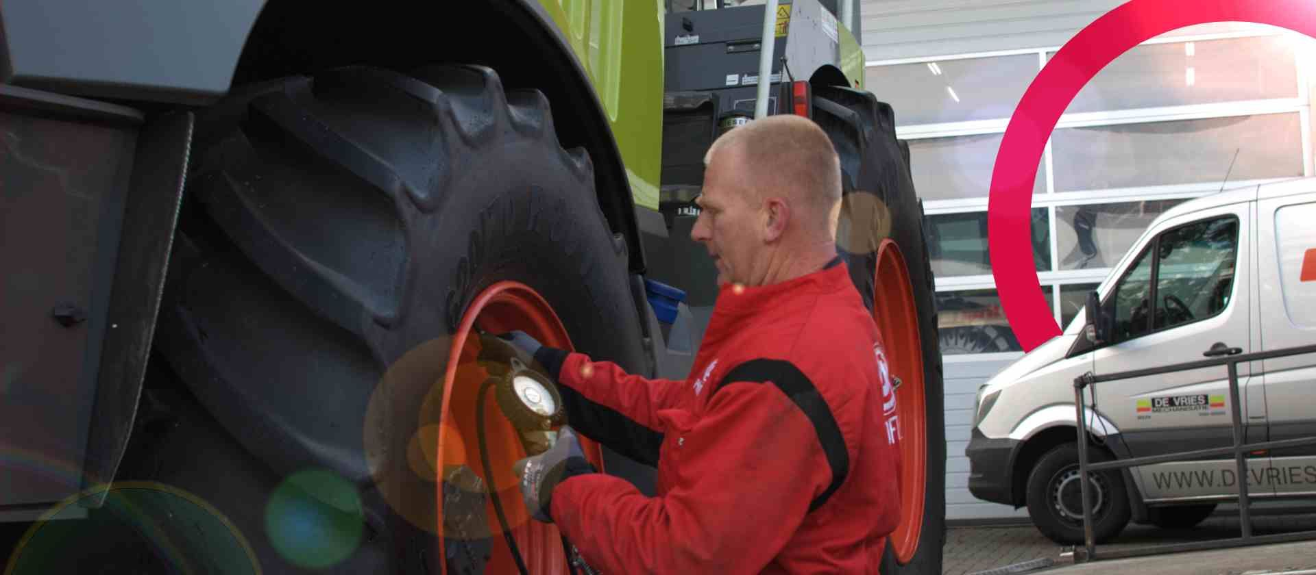 The ideal tyre pressure for your tractor tyres