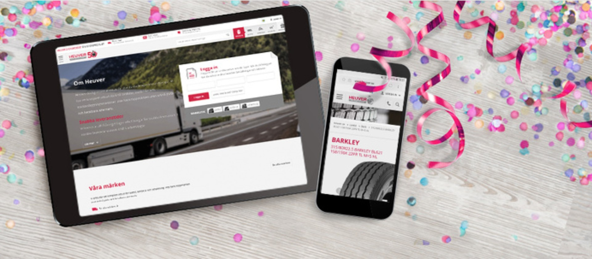 Heuver Tyrewholesale proud to launch Swedish web-shop; its 10th online outlet